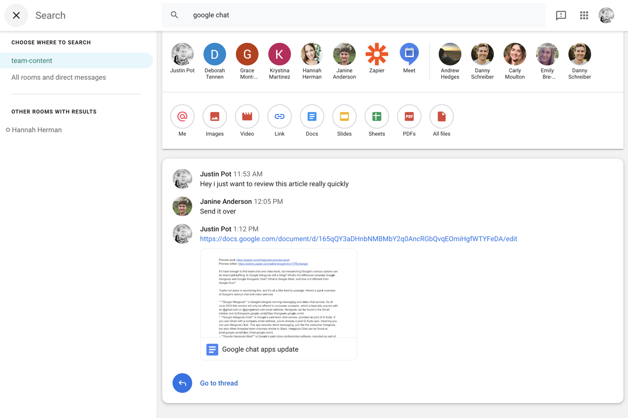 Everything you need to know about Google Chat | Zapier