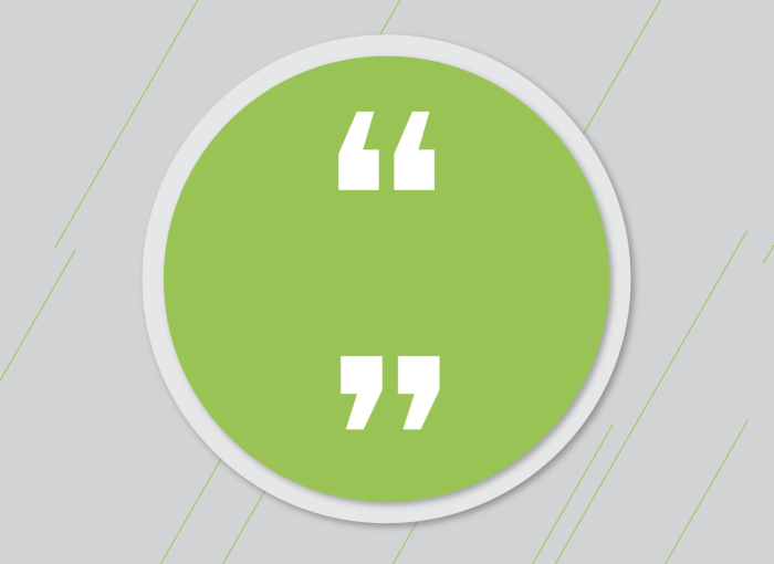 Icon of quotation marks