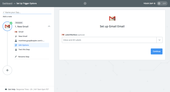 Zapier gmail