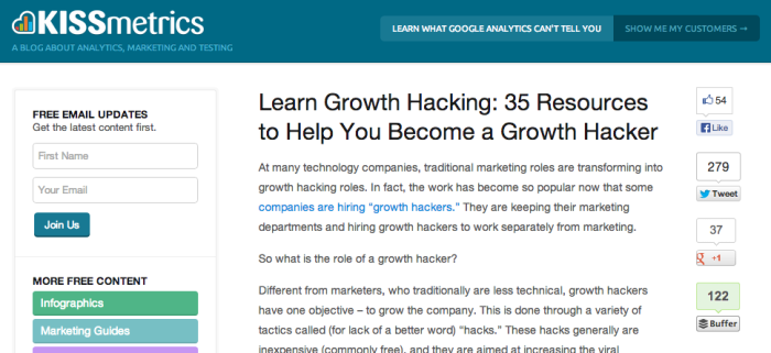 Growth Hacking Resource Guide
