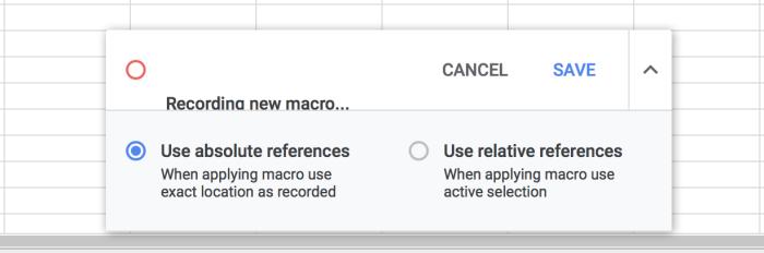 Google Sheets Macro Recorder Tool