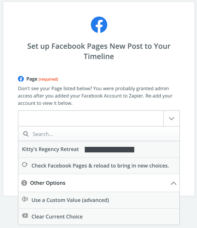 Connect to your Facebook Page