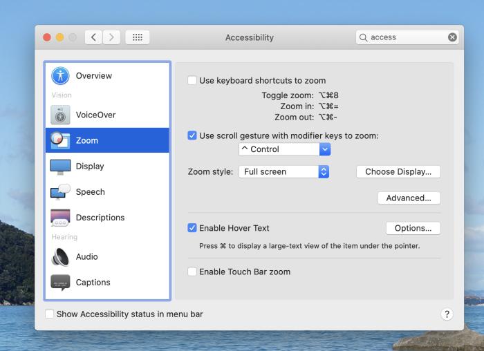 Zoom on macOS