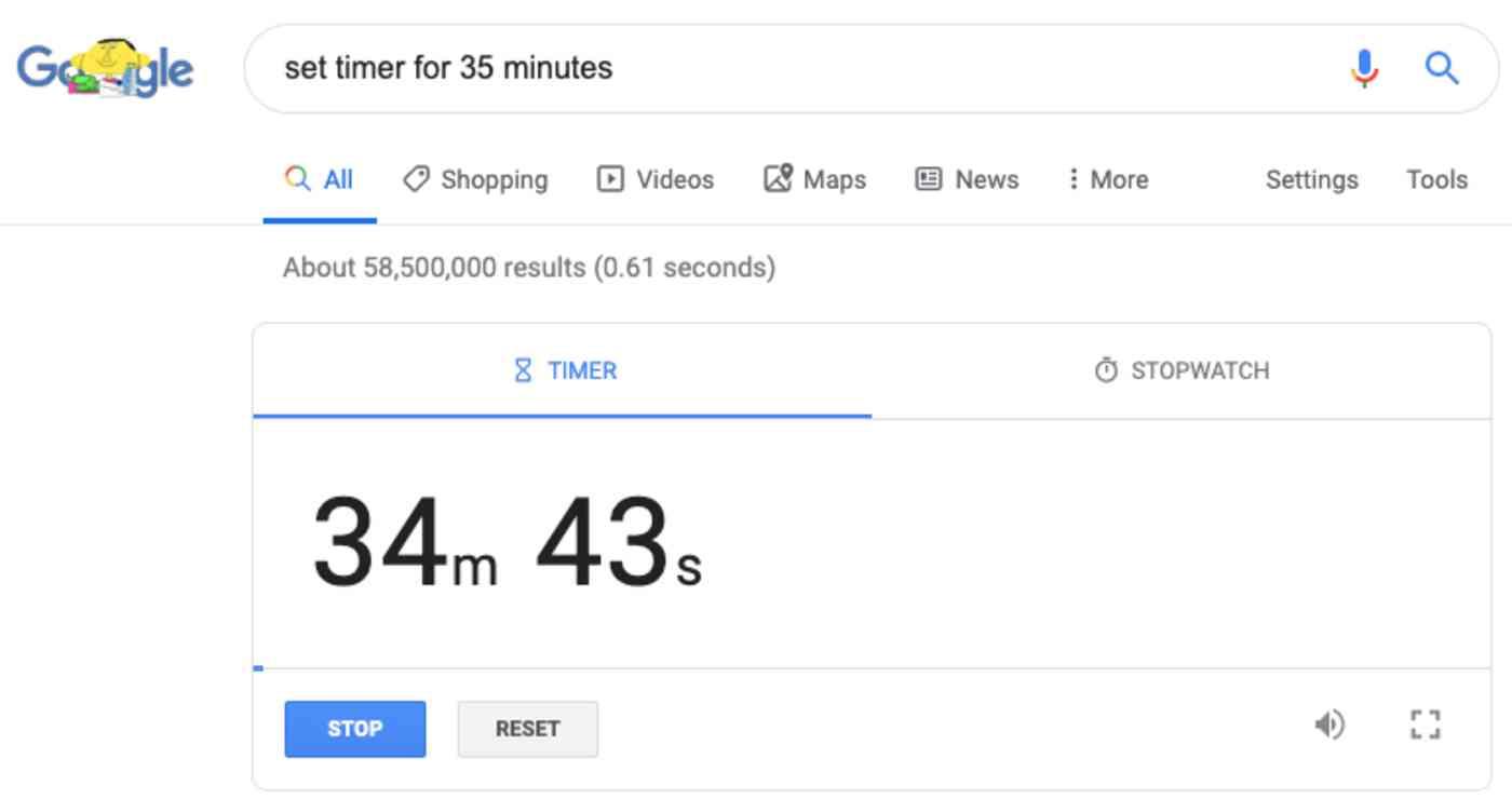 timer in Google