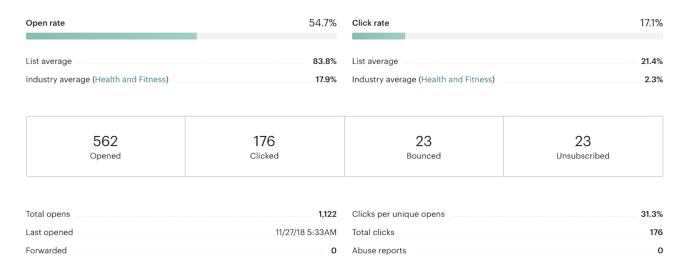 Data in Mailchimp