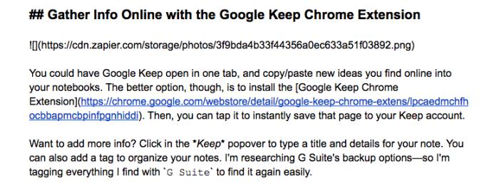 Markdown in Google Docs