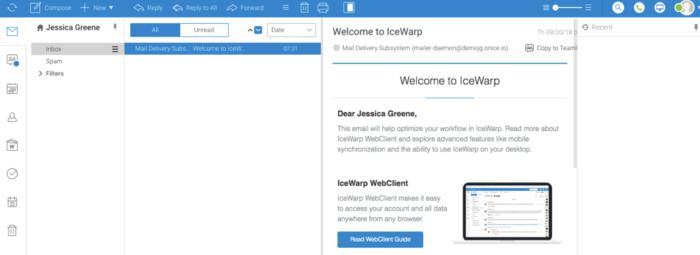 IceWarp email interface