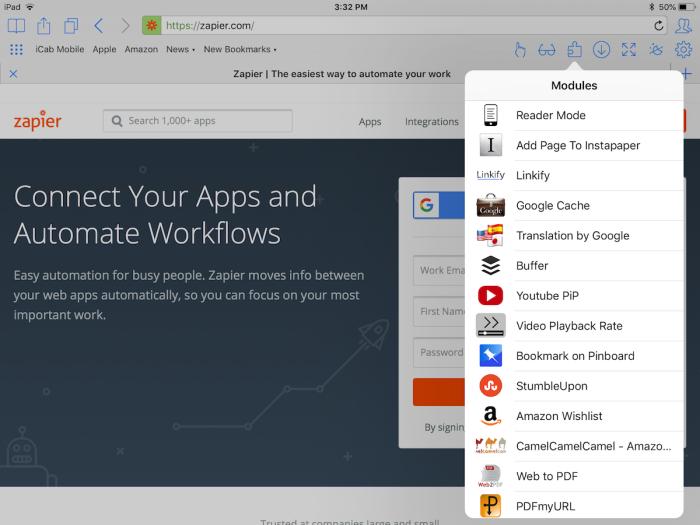 iCab for iPad