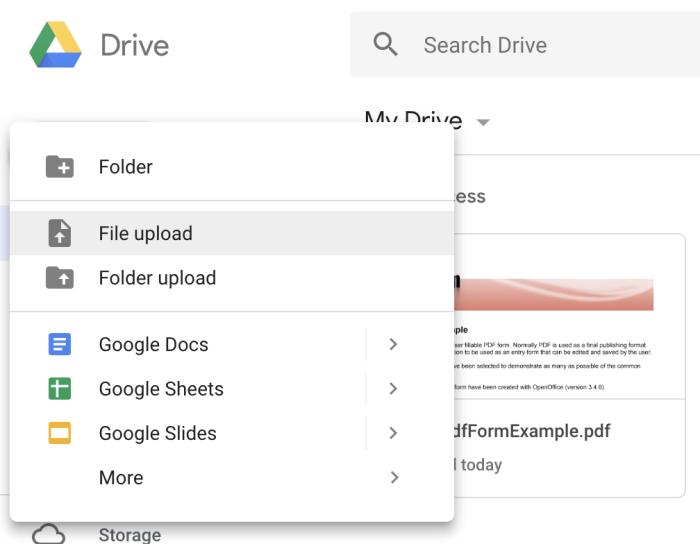 Subir a Google Drive