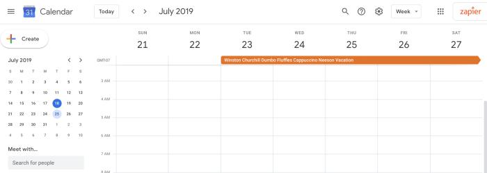 Oye, los datos de Google Forms aparecieron en Google Calendar.