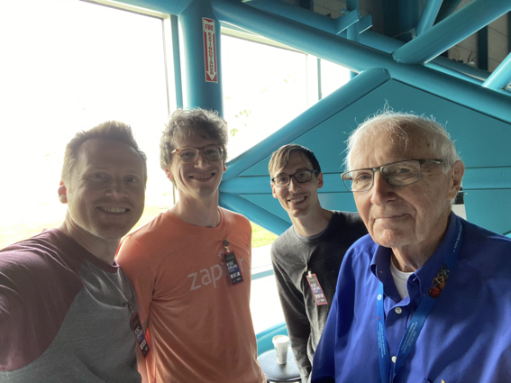 Three Zapier employees with Lee Solid