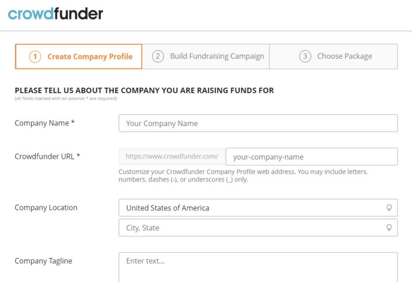 Getting started with Crowdfunder