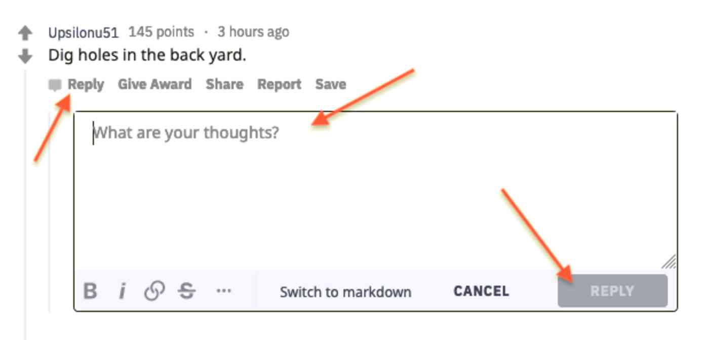 Replying to a comment on Reddit