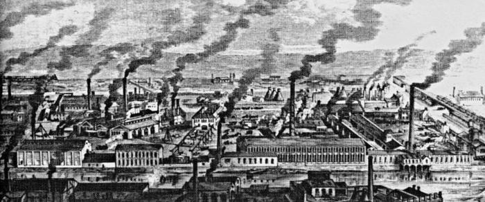 Industrial revolution city