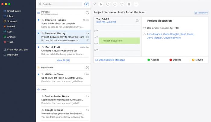 Spark email app