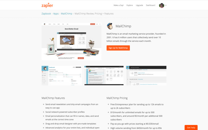 Review of MailChimp email marketing software