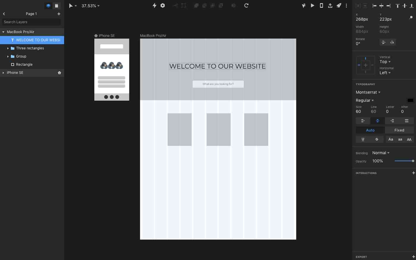 InVision Studio interface