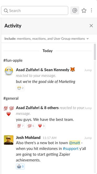 Slack mentions