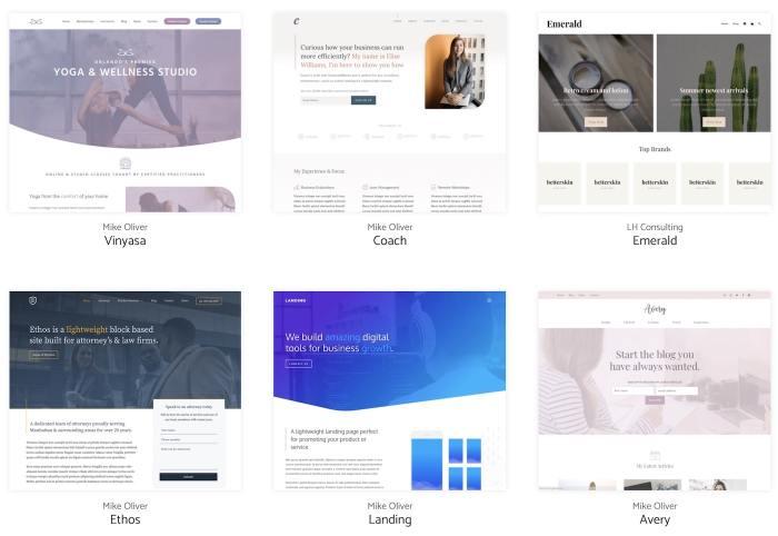 The GeneratePress templates