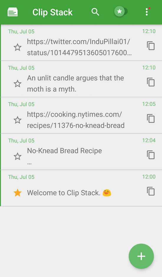 Clip Stack for Android