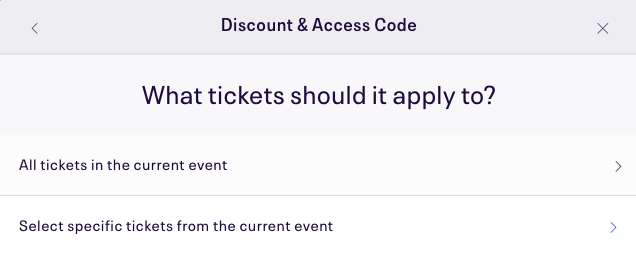 All tickets or select tickets