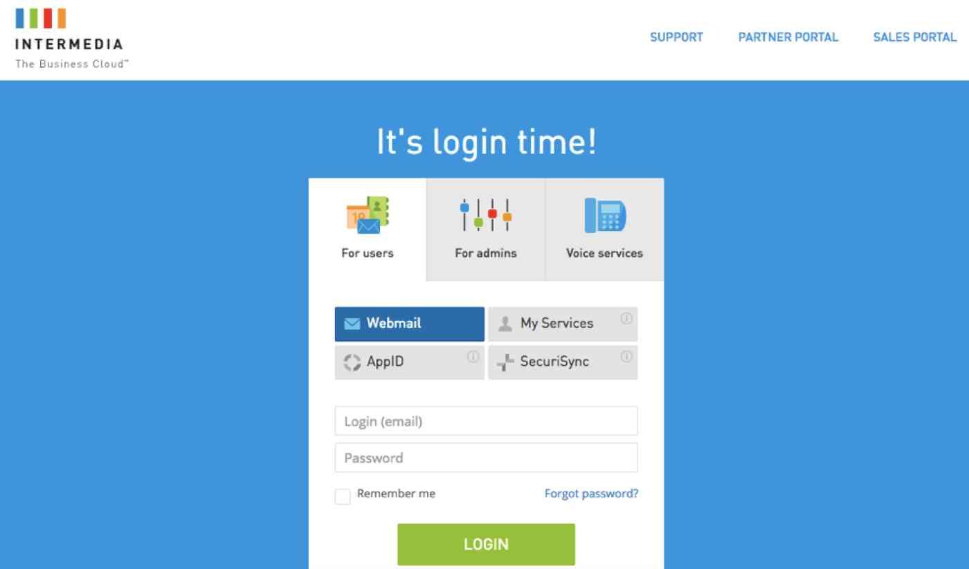 Intermedia Exchange email login