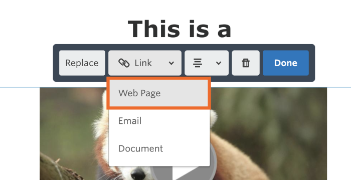 Add a URL for your image in Constant Contact