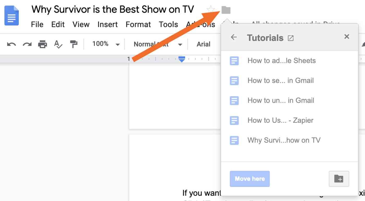Move Google Doc
