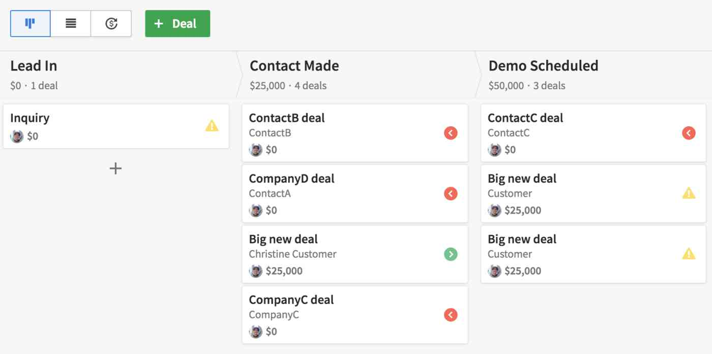 Zapier automatically creates a new deal in Pipedrive corresponding to the inquiry email