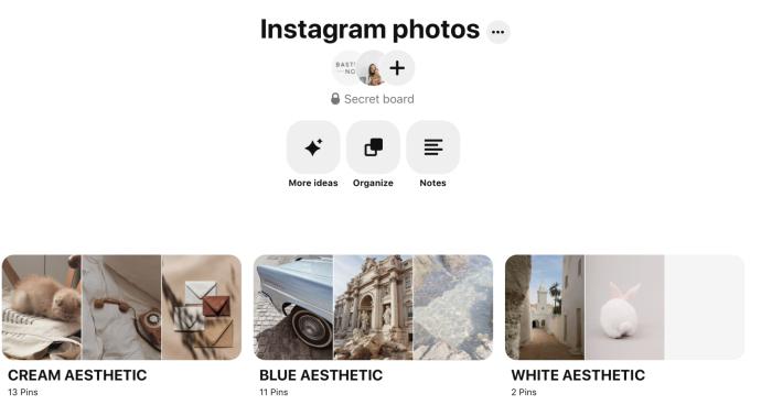 A Pinterest board for Instagram inspiration
