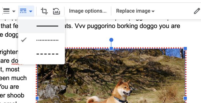 Motivo de borde de Google Docs
