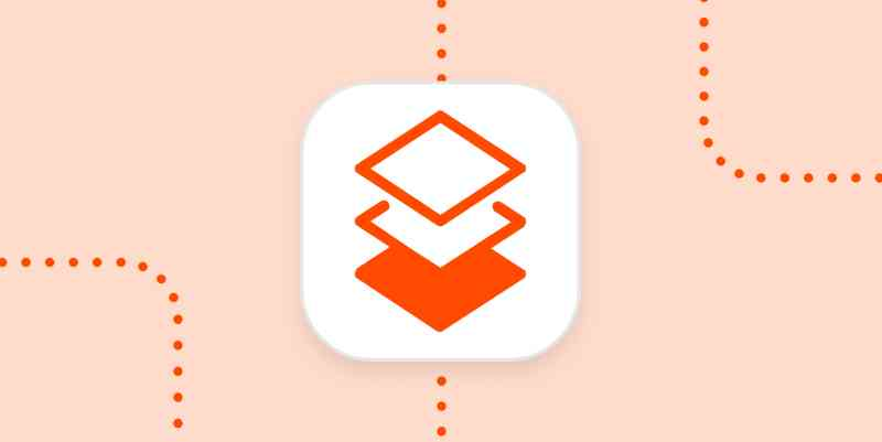 An icon for copying and pasting that looks like stacked diamonds in a white square on a pale orange background.