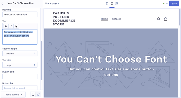 Shopify Website Builder Screenshot