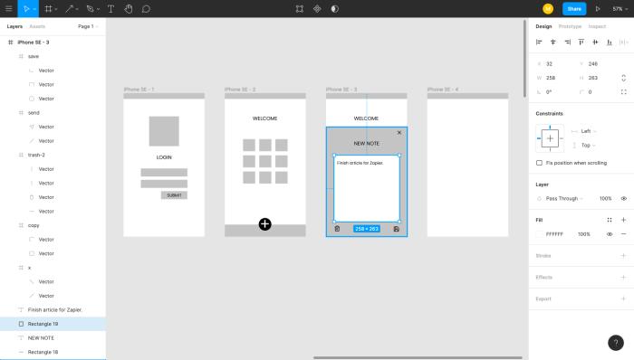 Figma interface
