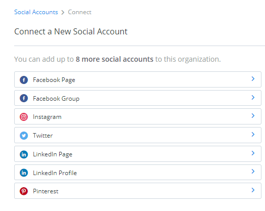 Choose connected accounts