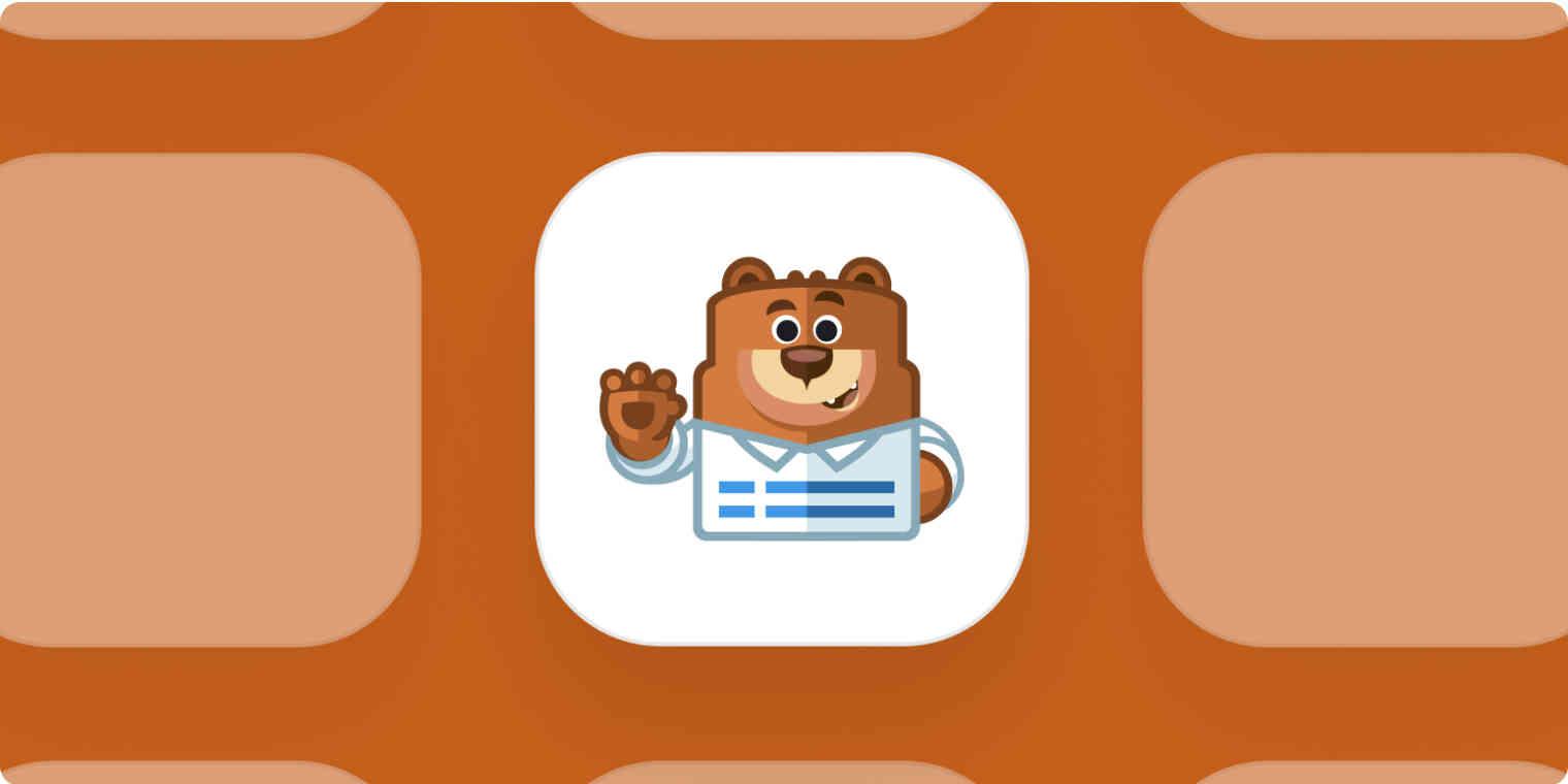 WPForms app logo on brown background
