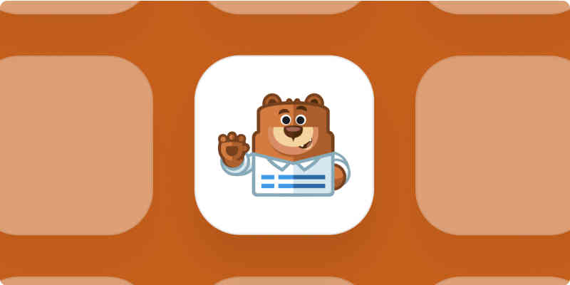 WPForms app logo on brown background