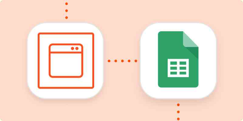 The logos for Zapier Chrome extension and Google Sheets.