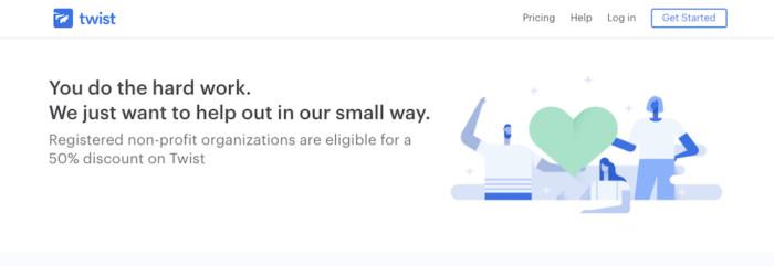 Nonprofit discount on Twist team chat app