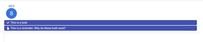 Google Tasks and Google Reminders in Google Calendar