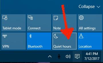 Windows Quiet Hours