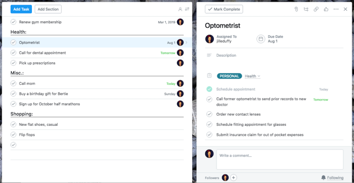 How to GTD With Asana - subtasks