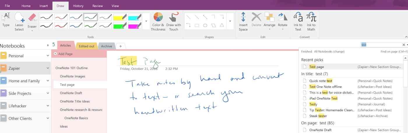OneNote Tutorial: OneNote handwriting