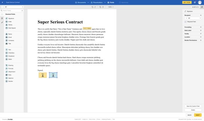 DocuSign homepage