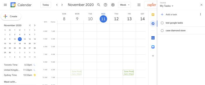 Tareas de Google en Google Calendar