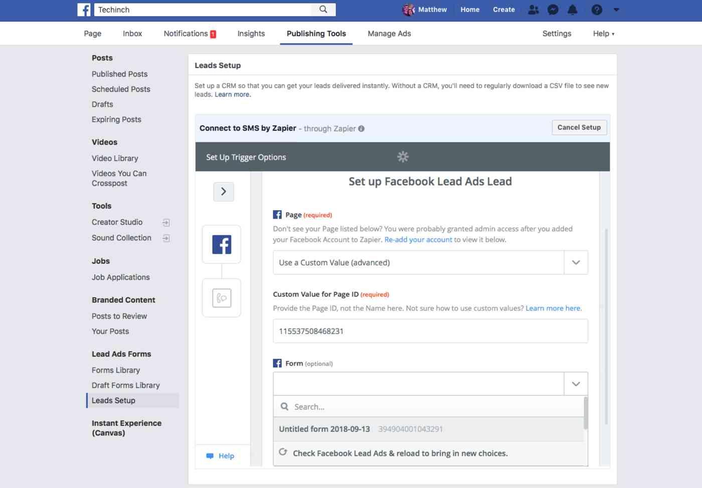 Zapier Inside Facebook Lead Ads