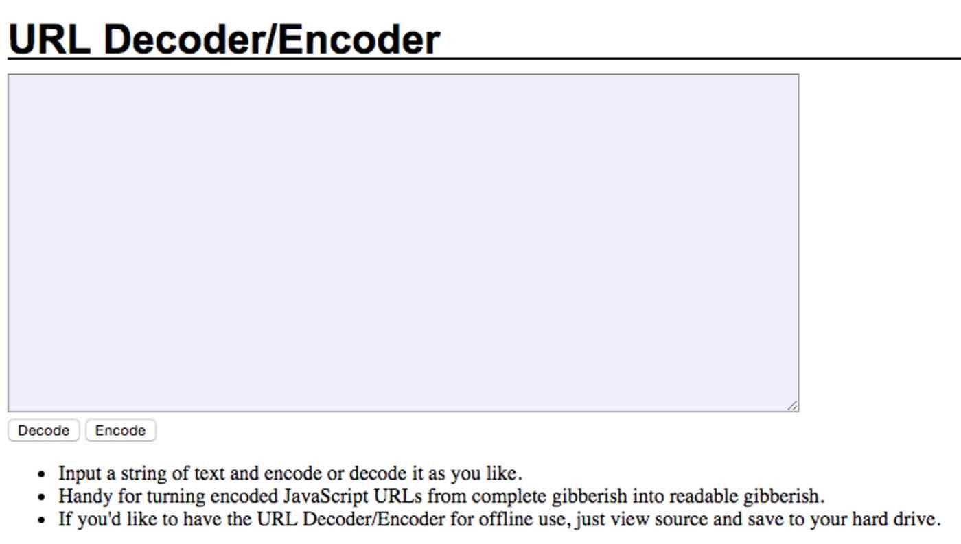 URL Encoder/Decoder