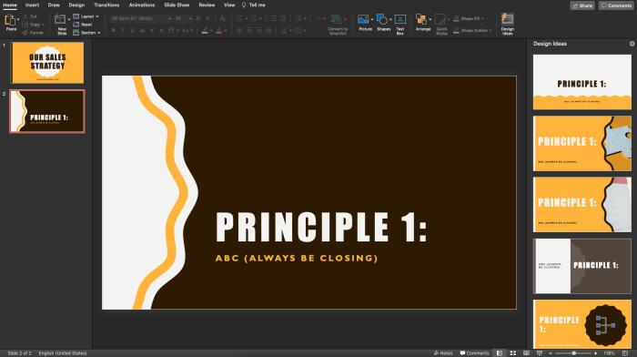 PowerPoint editor