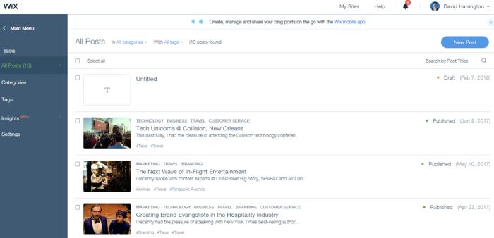 Wix blog hub