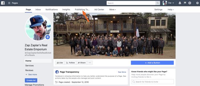 Facebook publishing tools
